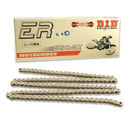 CADENA DID 520 MX RACING DORADA/NEGRA (114 PASOS)