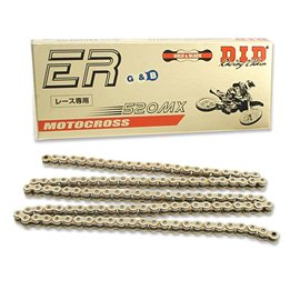 CADENA DID 520 MX RACING DORADA/NEGRA (118 PASOS)