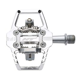 PEDALES ENDURO HT T1 (SILVER)