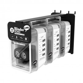 EXPOSITOR PARED + PACK DE 3 LUCES KNOG BLINDER ROAD 2 DEL