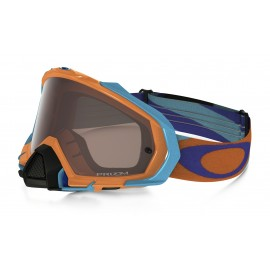 OAKLEY MAYHEM PRO HERITAGE RACER ORANGE BLUE (LENTE PRIZM BLACK IRIDIUM)
