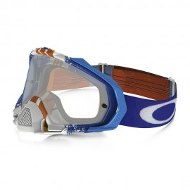 OAKLEY MAYHEM PRO PINNED RACE BLUE-ORANGE (LENTE TRANSPARENTE)