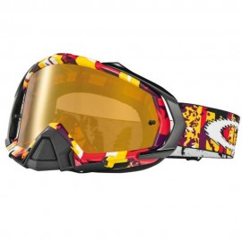 OAKLEY MAYHEM ROCKET OUT RED YELLOW (LENTE FIRE IRIDIUM)