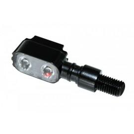 LED INDICATOR MX-1 BLACK METAL HOUSING E-MARKED