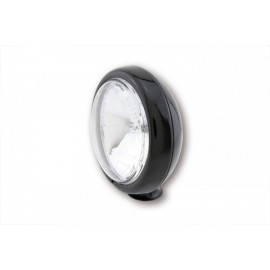 4 1/2 INCH HIGH BEAM HEADLIGHT CLEAR LENS SHINY BLACK