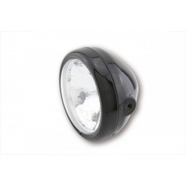 5 3/4 INCH MAIN HEADLIGHT PECOS SHINY BLACK