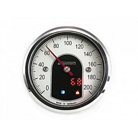 ANALOGUE SPEEDOMETER MOTOSCOPE TINY POLISHED