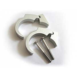 HANDLE BAR CLIP KIT 1 INCH POLISHED