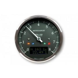 MOTOSCOPE CLASSIC REV COUNTER DARK EDITION 8.000 RPM