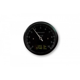 MOTOSCOPE CLASSIC REV COUNTER DARK EDITION 10.000 RPM