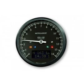 MOTOSCOPE CLASSIC REV COUNTER DARK EDITION 14.000 RPM