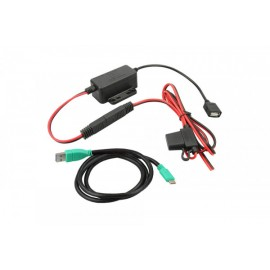 GDS MODULAR HARDWIRED CAR CHARGER WITH TYPE C CABLE
