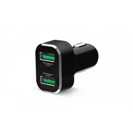 GDS CIGARETTE CHARGER DUAL USB W QC PORT