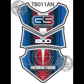 PROTECTOR DEPOSITO 3PCS 30TH ANNIVERSARY AZUL/ROJO BMW F800GS