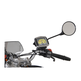 SOPORTE DE GPS PARA RETROVISOR PARA SOPORTE M8 / M10 NEGRO