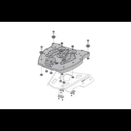 QUICK-LOCK MALETA SUPERIOR TRAX NYLON REFORZ NEGRO PLACA ADAPTADORA