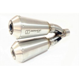 STAINLESS STEEL EXHAUST BMW R NINE T 14- DUAL EXIT SLIP ON RACING