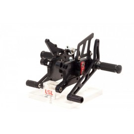 2SLIDE REARSET BMW S 1000 RR 09- BLACK MOUNTING PIECE RED