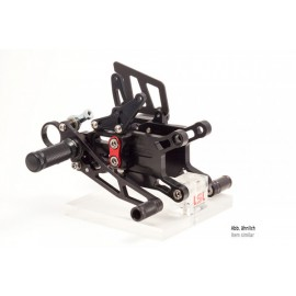 2SLIDE REARSET KAWASAKI ZX-6R 09 - BLACK MOUNTING PIECE RED