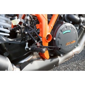 2SLIDE REARSET KTM 1290 SUPER DUKE R BLACK MOUNTING PIECE RED