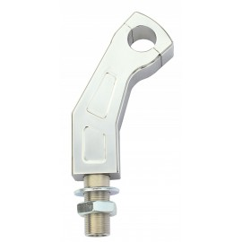 ALU-RISER CRANKED 120 MM HIGH POLISHED 22MM FIXING WITH WIRE THROUGH