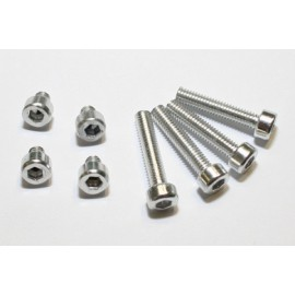 ALUMINIUM SCREW SET M4 SILVER ANODIZED
