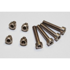 ALUMINIUM SCREW SET M4 TITAN ANODIZED