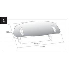 DEFLECTOR CUPULA CON FIJACION DE CLIP 325x102mm