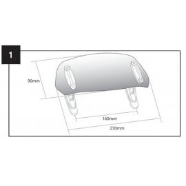 DEFLECTOR CUPULA CON FIJACION DE CLIP 230x90mm