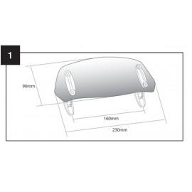 DEFLECTOR CUPULA CON FIJACION DE TORNILLO 230x90mm