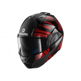SHARK EVO ONE 2 LITHION DUAL NEGRO CROMO ROJO