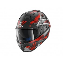 SHARK EVO ONE 2 SKULD MATE NEGRO BLANCO ROJO