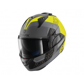SHARK EVO ONE 2 SLASHER MATE PLATA AMARILLO NEGRO